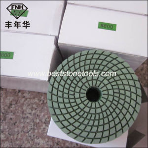 Wd-4 Spiraled Flexible Polishing Pad for Stone Polishing Pad (80/100/125X3.3mm) pictures & photos