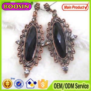 Clear Crystal Oval Shape Antique Metal Ladies Earrings Designs #21031 pictures & photos