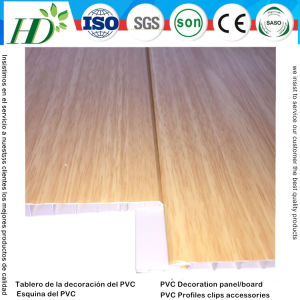 Wooden Pattern Lamination PVC Panel PVC Ceiling Boardl and Wall Panel (RN-187) pictures & photos