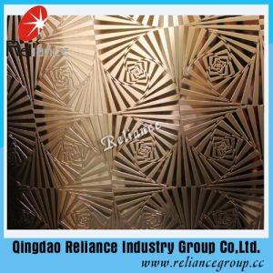 4mm/5mm/6mm Golden Bronze Acid Designed Mirror /Etched Mirror Glass pictures & photos