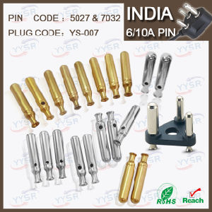 5027 7032 5.0mm 7.0mm 5/6A South Africa India Plug with 5/6A 10A Crimping Holder Pin Hollow Solid pictures & photos