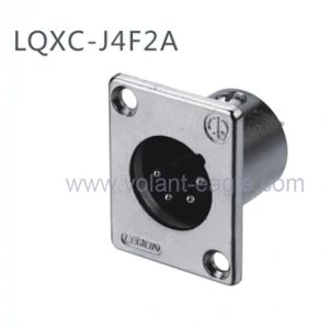 Audio Connectors 4-Pin Male XLR Chassis with RoHS pictures & photos