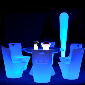 Color Change LED Restaurant Dinner Chair and Table pictures & photos