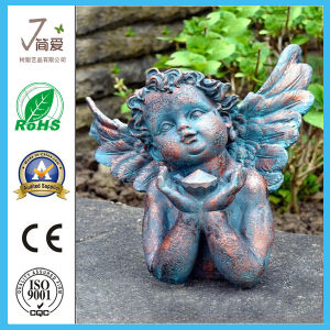 Metal Angel Sculpture Iron Cast Garden Figurine pictures & photos