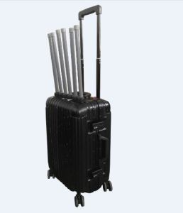 6CH 180W LCD Display Battery Capacity Luggage Hidden Type Built-in Battery / Antenna Portable RF Signal Jammer pictures & photos