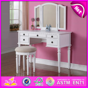 Indoor Bedroom Set Furniture Antique Dressing Table with Stool & Mirror W08h019 pictures & photos