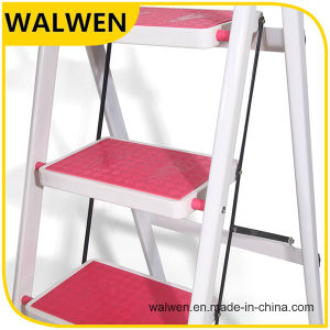 5 Step Hot Sale Folding Wide Step Handrail Ladder pictures & photos