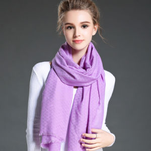 Women in Winter to Keep Warm Plain Purple  Polyester Scarf Shawl pictures & photos