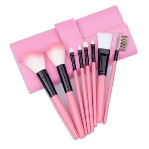 8PCS Portable Travel Pink Cosmetic Makeup Brush pictures & photos