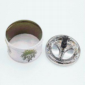 Hot Sale Rotating Pressure Type Windproof High-Grade Ashtray with Stainless Steel Lid pictures & photos
