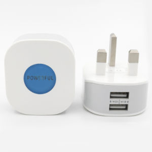2.1A UK Plug Dual USB Wall Charger for Samsung Galaxy S4/ Note 2/3 pictures & photos