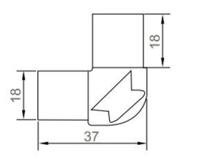 European Type Joint Corner for Aluminum Profile pictures & photos
