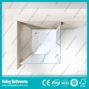 Hinged Folding Door Selling Stainless Steel Hardware Aluminum Simple Shower Cabin (SE704C) pictures & photos