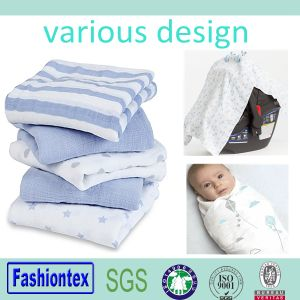 Infant Eco-Friendly Baby Muslin Cloth 100% Cotton Swaddle Blankets pictures & photos