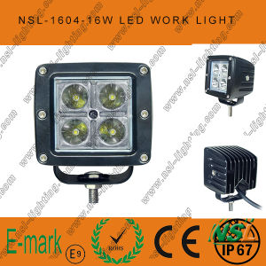 3inch Square 16W CREE LED Work Light Auto Driving off Road Fog Head Light 12/24V DC pictures & photos