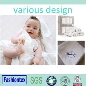 GOST Certificated Muslin Square 100% Cotton White Swaddle Blankets pictures & photos