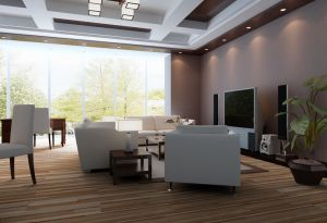 Wood Grain PVC Vinyl Flooring for Office / Shopping Mall pictures & photos