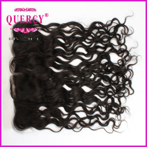 "2016 Hot Sale Natural Color Curly 8-24inch Length Can Be Customized 13X4"" Ear to Ear Lace Frontal pictures & photos"