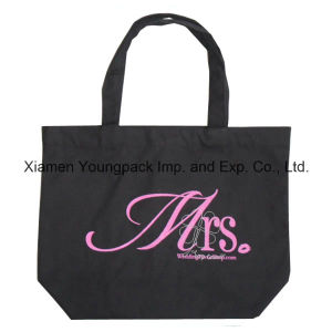 Promotional Custom Printed Black Shopping Tote Calico Cotton Bag pictures & photos
