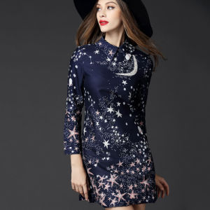 2015 Latest Designs Star Print Women Dress