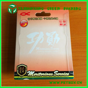 Hard Paper Card with Folding Edge Plastic Clamshell Blister Packaging