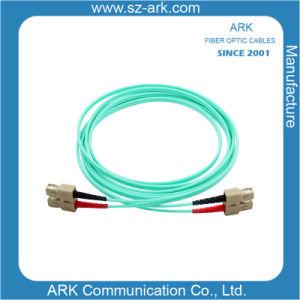 Sc-Sc Multimode 50/125 Om3 Aqua Duplex Fiber Optic Cable/Patchcord pictures & photos