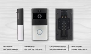 Night Vision WiFi Doorbell with 166 Degree pictures & photos