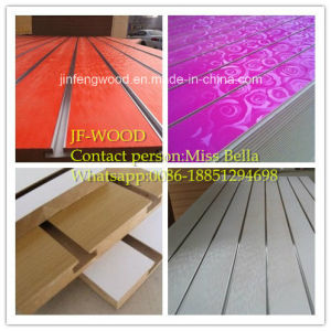 Slot Melamine MDF for Surpermarket pictures & photos