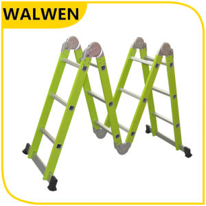 Multi-Purpose Folding Agility Aluminum Hings Ladder pictures & photos