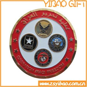 2017 3D Good Quality Custom Metal Soft Enamel Challenge Military Gold Coin (YB-c-039) pictures & photos