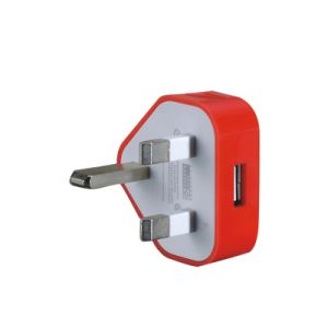 5V 2000mA UK Plug Dual USB Charger Power Adapter pictures & photos