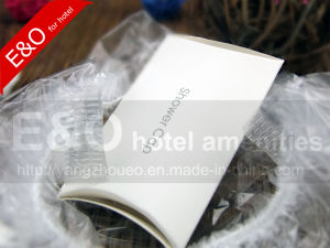 Hot Sale Transparent Disposable PE Hotel Shower Cap in Boardcard Box pictures & photos