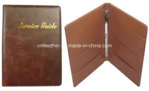 PU Leather Hotel Service Guide Folder with Ring Binder pictures & photos