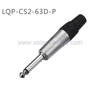 6.35 mm 1/4 Inch Mono Plug Microphone Cable Connector Plug CS2-63D-P pictures & photos