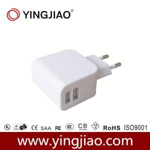 5V 3.1A 17W DC Double USB Travel Charger pictures & photos