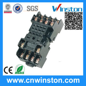 Miniature General Purpose 300VAC 10A Remote Electric Rail Solid State Plastic Relay Socket pictures & photos