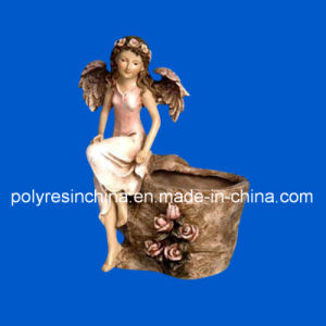 Polystone Angel Pot Crafts for Garden Ornament pictures & photos
