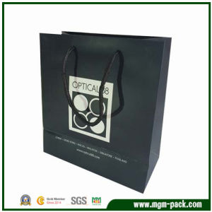 Promotional Black Paper Shopping Bag with Handles pictures & photos