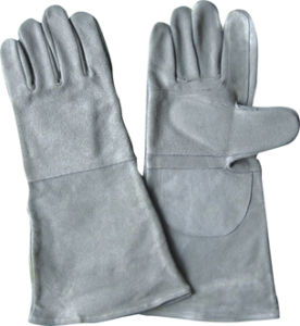 Cow Split Leather Wing Thumb Welding Work Glove--6526 pictures & photos