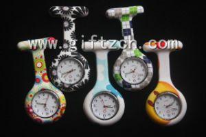 Glow in Dark Full Color Print Silicone Nurse Watch