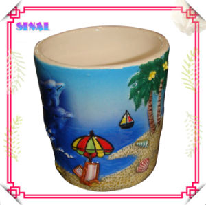 Ceramic Beach Souvenir Shot, 100% Handpainted Cup