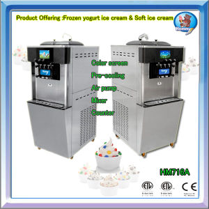 Hot Sale Ice Cream Making Machine HM716A with Air Pump pictures & photos