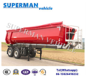 2 Axle U Shape Coal Transport Tipper Dump Trailer/Tipping Semi Trailer pictures & photos