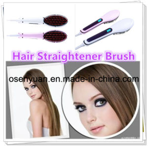 Electric Hair Straightener Brush Straightening Irons with LCD Display pictures & photos