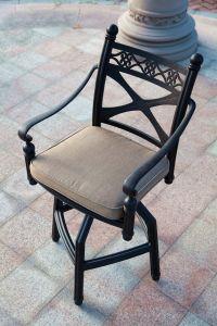 Garden Swivel Bar Chair Cast Aluminum Furniture pictures & photos