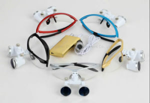 High Quality 2.5X / 3.5X Colorful Dental Loupes with Head Light pictures & photos