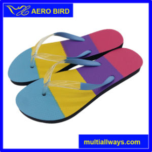 PE Specially Colorful Insole Design Girl Slipper for Woman (15I355) pictures & photos