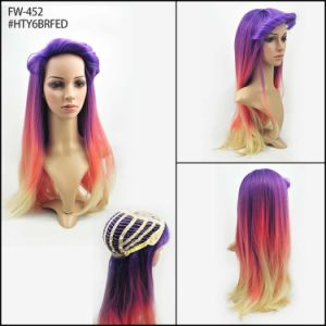 Dye Color Beautiful Fashion Women Straight High Qualtiy Synthetic Wigs pictures & photos
