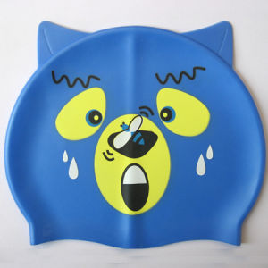 Bear Cartoon Silicone Swimming Hat for Children pictures & photos