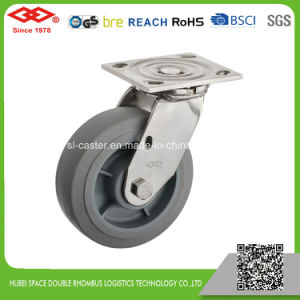 8 Inch Stainless Steel Swivel Locking Heavy Duty Rubber Caster (P704-34FF200X50S) pictures & photos
